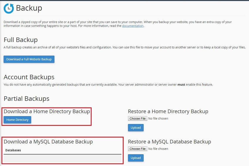 How to backup your website in cPanel - Knowledgebase - Cheeky Monkey